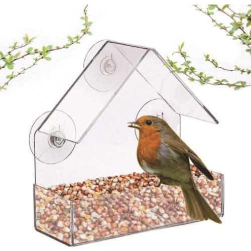 """Кормушка для птиц на окно """"Домик малый"""""""