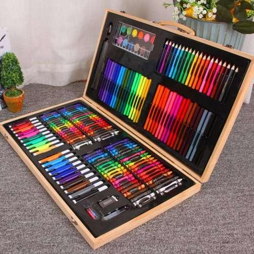 Набор для рисования в чемоданчике из дерева (220 предметов)