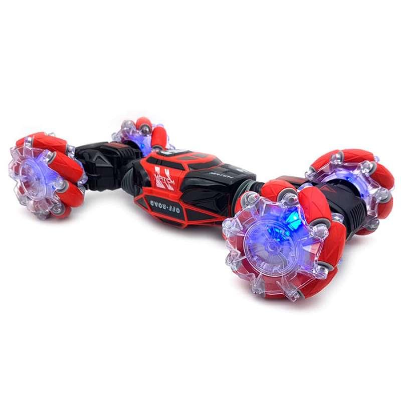 Машинка перевертыш управляемая жестами Skidding (Красная)