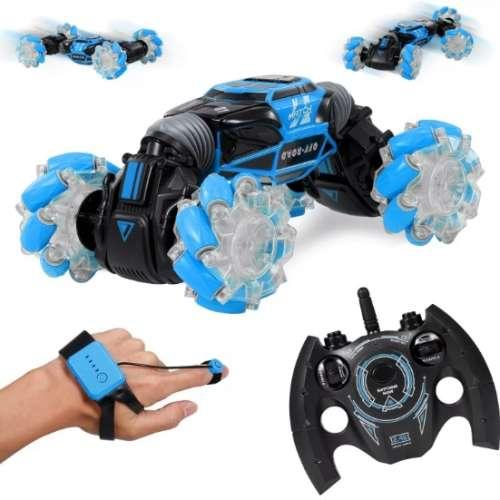 Машинка перевертыш управляемая жестами Skidding (Синяя)