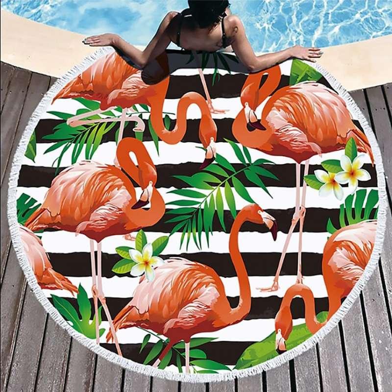 """Пляжное полотенце """"Фламинго"""""""