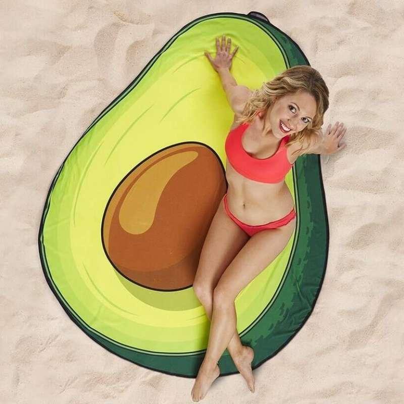 "Пляжное полотенце ""Авокадо"""