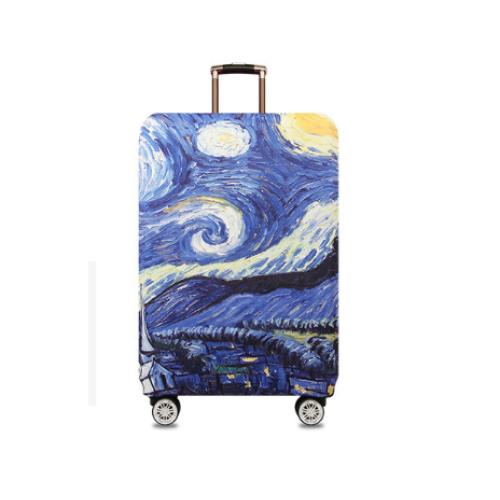 """Чехол для чемодана """"Ван Гог Звёздная ночь"""""""