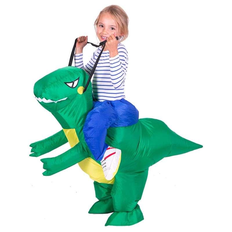 """Детский надувной костюм-наездник """"Верхом на динозавре"""""""
