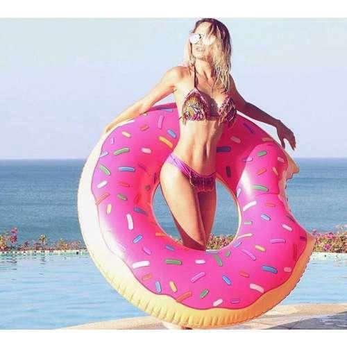 """Надувной круг """"Пончик розовый"""""""