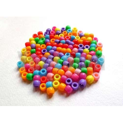 Разноцветные бусинки для браслетов из резинок