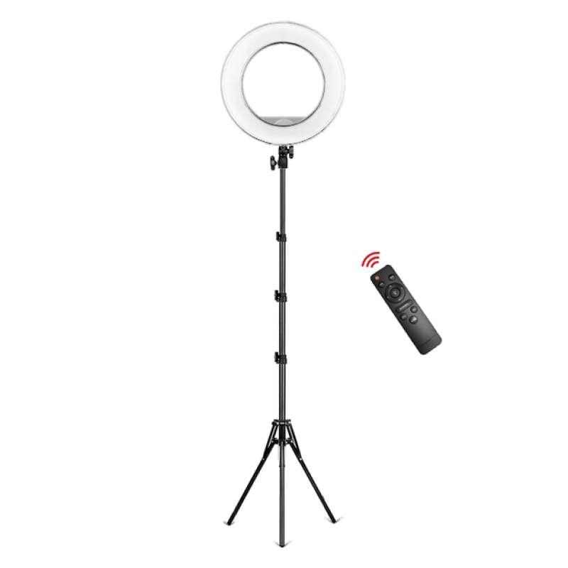 Кольцевая лампа со штативом 32 см с пультом