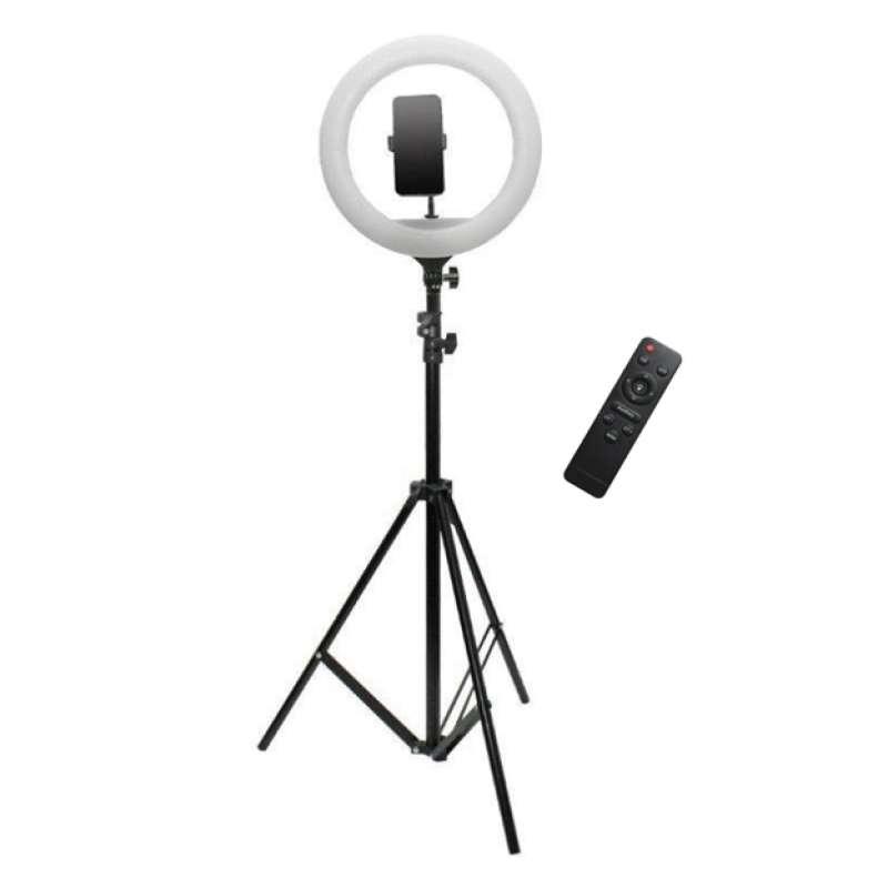 Кольцевая лампа со штативом 36 см с пультом