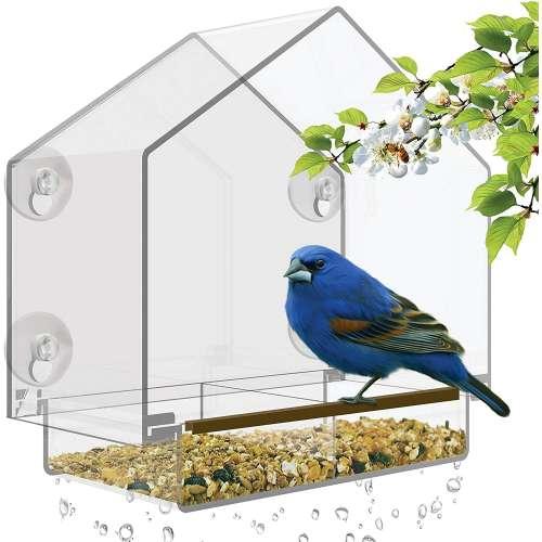 """Кормушка для птиц на окно """"Домик"""""""