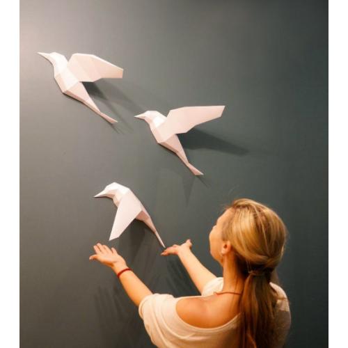 """3д полигональная фигура на стену из бумаги """"Птицы"""""""