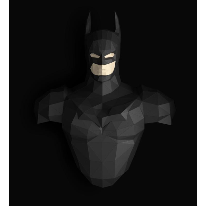 """3д полигональная фигура на стену из бумаги """"Бэтмен"""""""