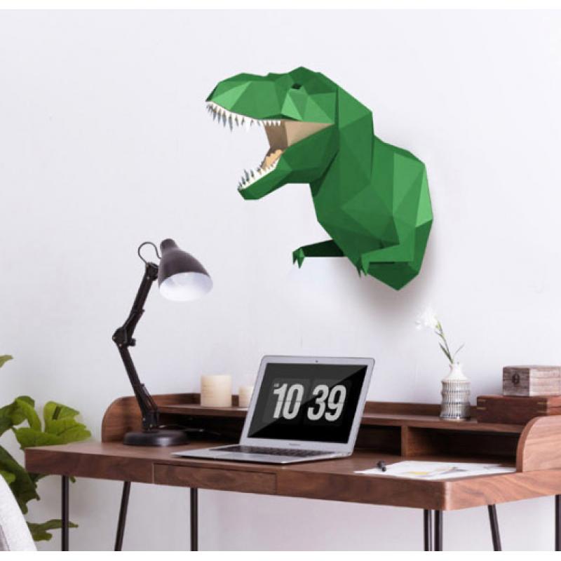 """3д полигональная фигура на стену из бумаги """"Динозавр Т-Рекс"""""""