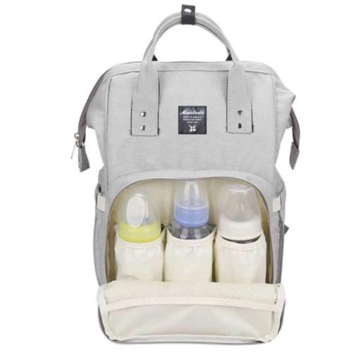 Сумка-рюкзак серый для мамы