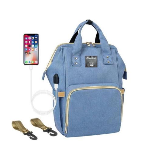 """Сумка-рюкзак для мамы """"Голубой"""""""