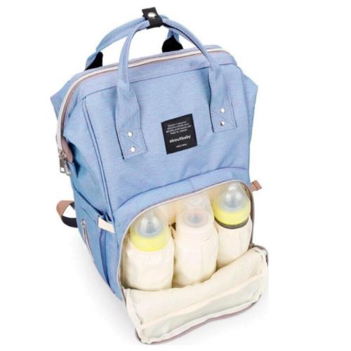 Сумка-рюкзак голубой для мамы