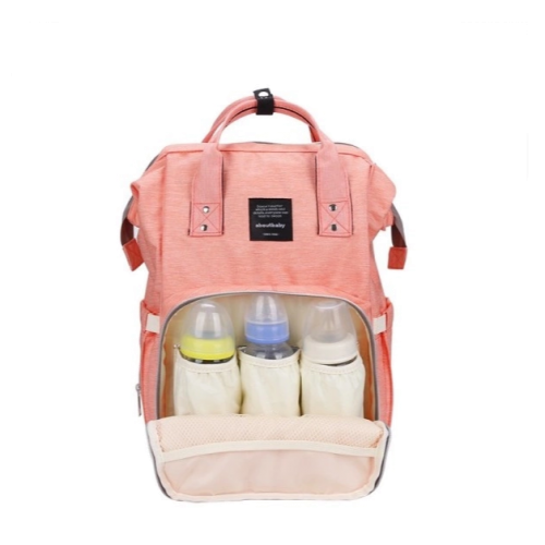 Сумка-рюкзак розовый для мамы