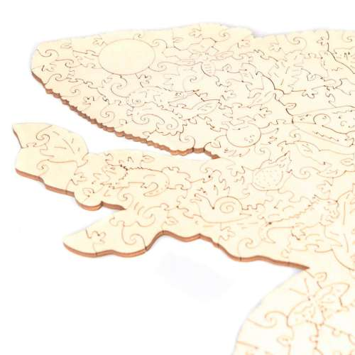 Unidragon деревянный пазл «Радужный хамелеон»