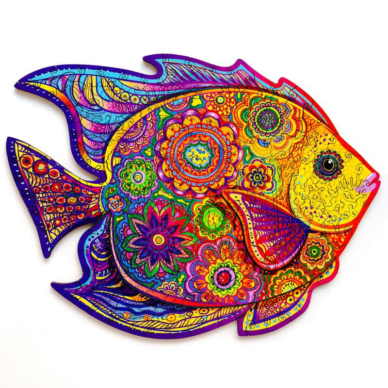 Unidragon деревянный пазл «Сияющая рыбка»