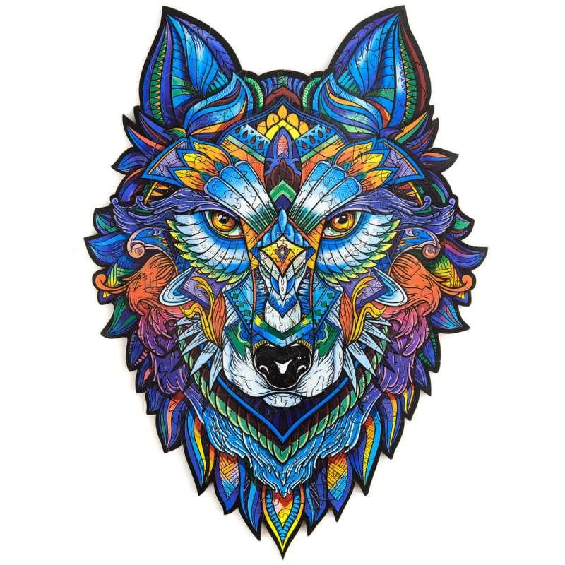 Unidragon деревянный пазл «Величественный волк»
