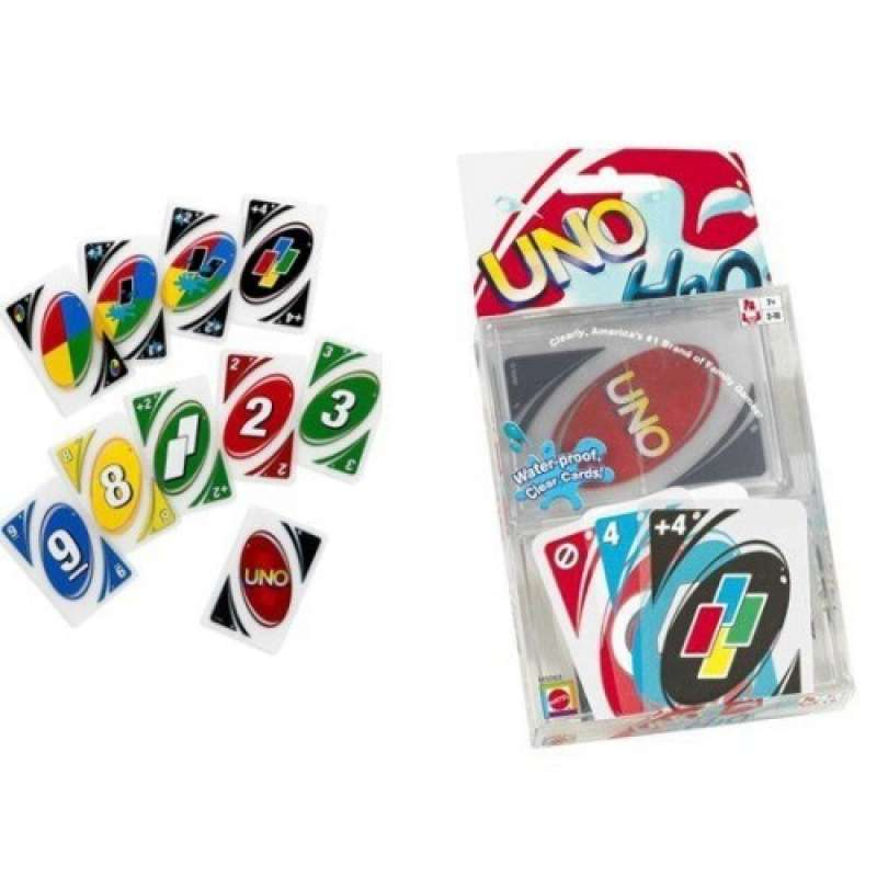 Настольная карточная игра UNO h2o (Уно аква) с футляром