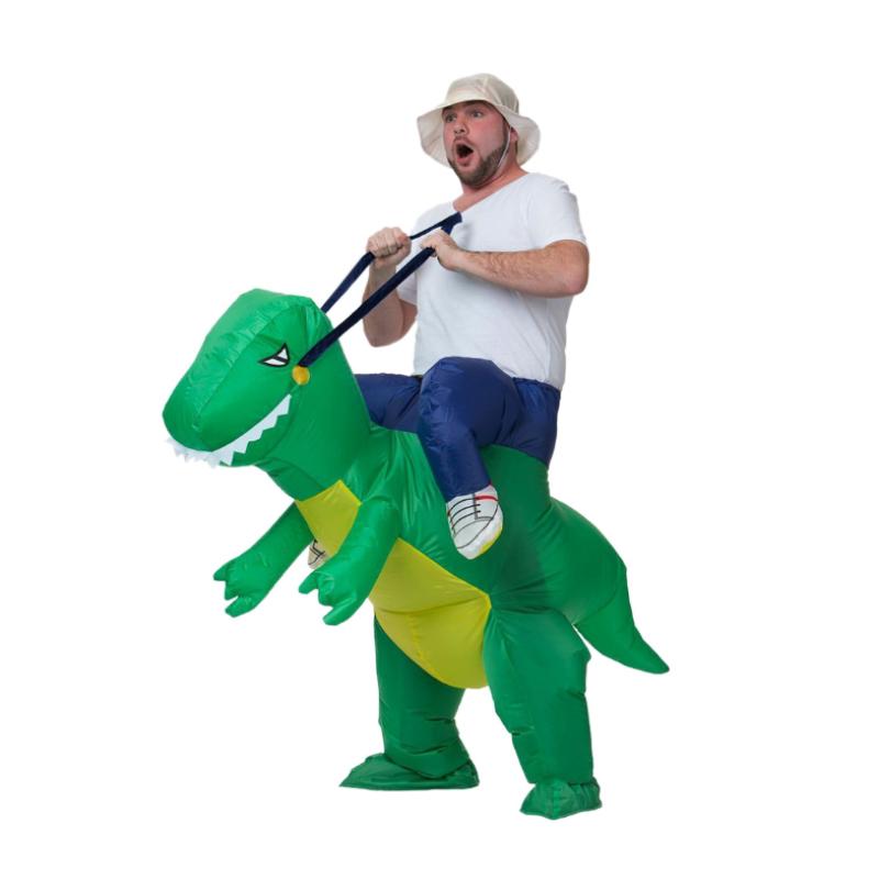 Надувной костюм-наездник Верхом на динозавре