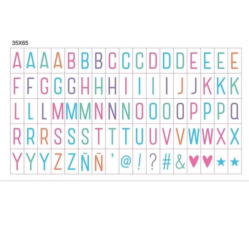 """Цветные символы для """"LightBox"""" A4 (85шт.)"""