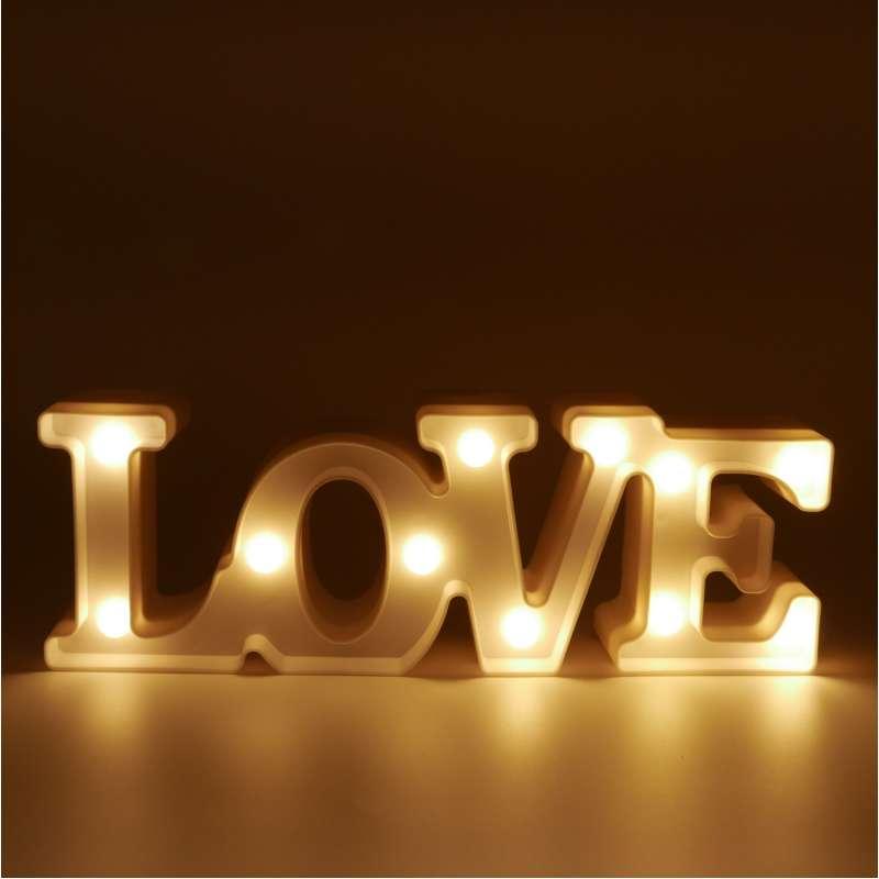 """Светильник ночной """"LOVE"""" (32 см)"""