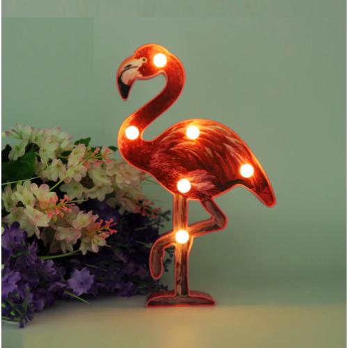 """Светильник ночной """"Фламинго малиновый"""""""