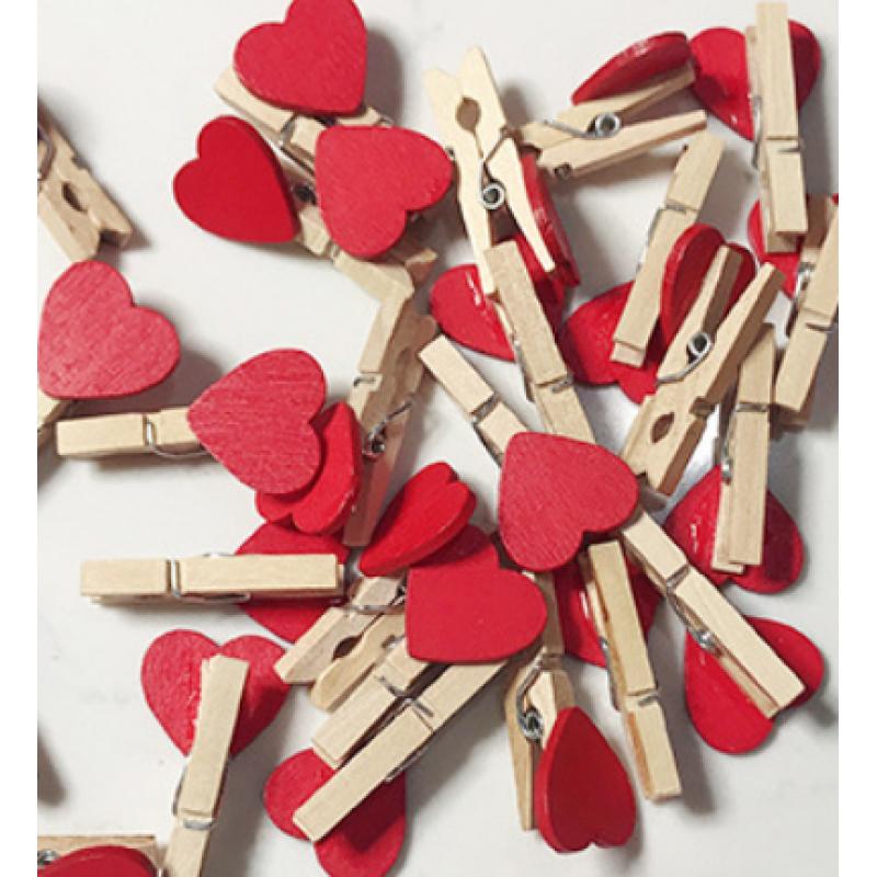 Декоративные прищепки Сердца