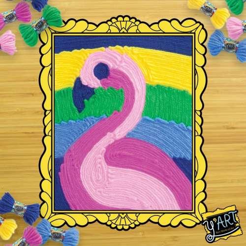 "Набор рисуй нитками Kahootz Y'art ""Фламинго"""